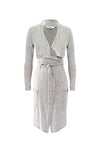 Shelley Waterfall Cardigan Light Grey Melange - ILAN LIFE SA