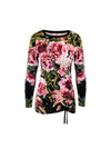 Sophia Tie Top Peonies on Black - ILAN LIFE SA