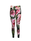 Training Pants Long Peonies on Black