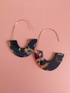 Multi Colour print disc Earrings - ILAN LIFE SA