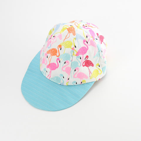 Reversible Fruity Flamingos Hat