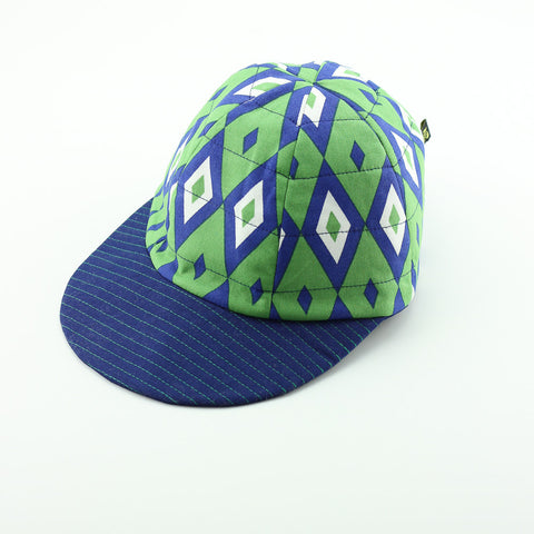Reversible Green Diamonds Hat