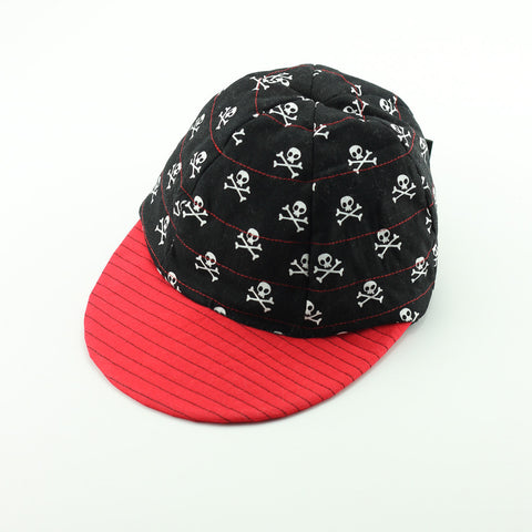 Reversible Pirate Skulls Hat with coloured brim