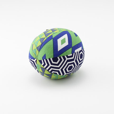 Green Diamonds Rattle Ball