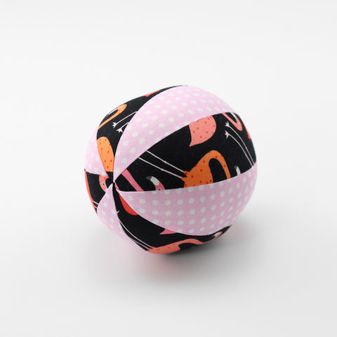 Flaming Flamingos Rattle Ball