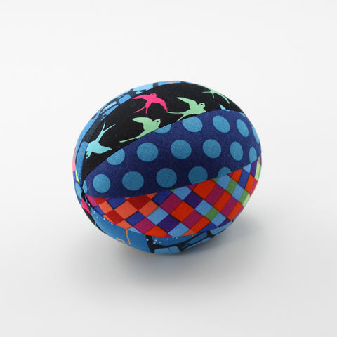 Colourful Birds Rattle Ball - Large