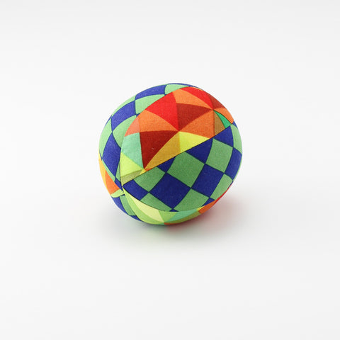 Geometric Green Rattle Ball - small