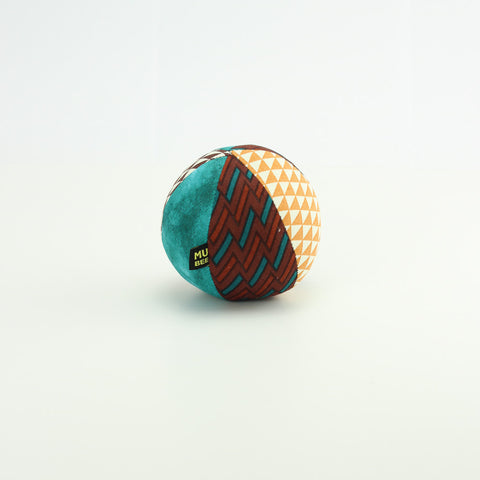 Aquamarine Zigzags Rattle Ball - small