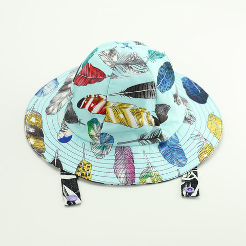 Tropical Feathers Sun Hat