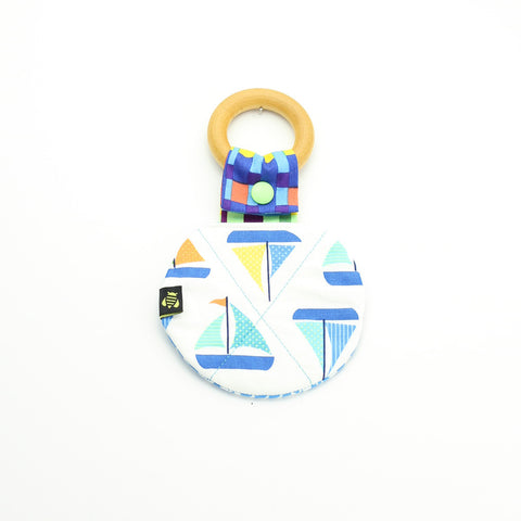 Sailing Boats Maplewood Teething Ring