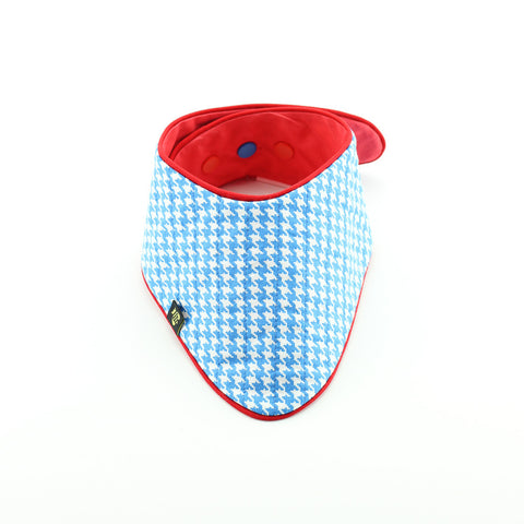 Reversible Betty Blue Bandana Bib
