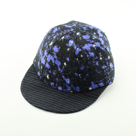 Reversible Blue Galaxy Hat