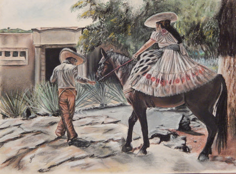 Mexico Original Pastel Painting