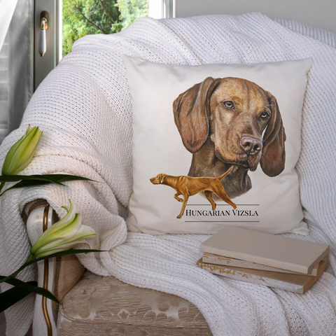 Vizsla Cushion - Amber