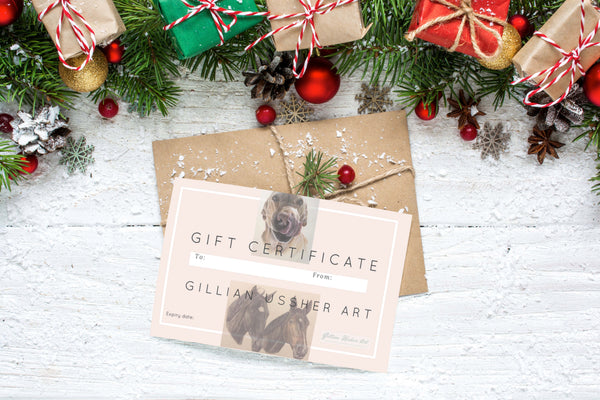 Gift Certificate for a Pastel Pet or Horse Portrait Commission