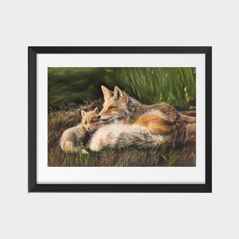 Red Foxes Fine Art Print