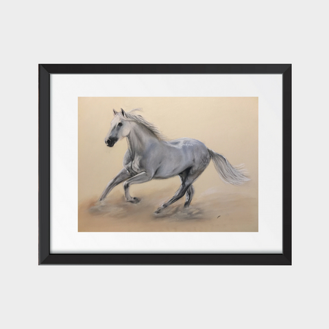 Galloping Horse Fine Art Print