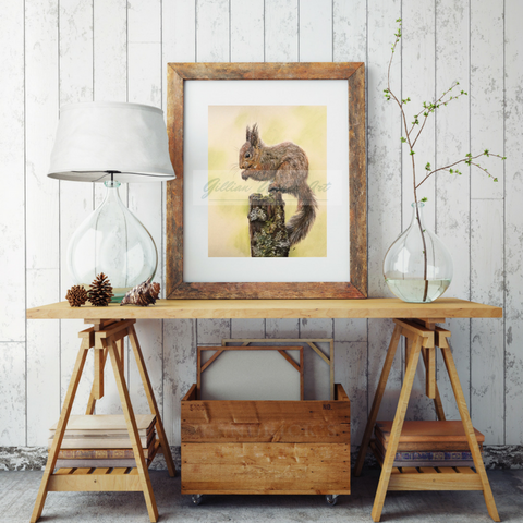 Red Squirrel Fine Art Giclee Print