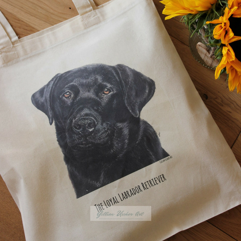 Fairtrade Natural Canvas Labrador Retriever Tote Bag