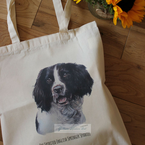 Fairtrade Natural Canvas Springer Spaniel Tote Bag