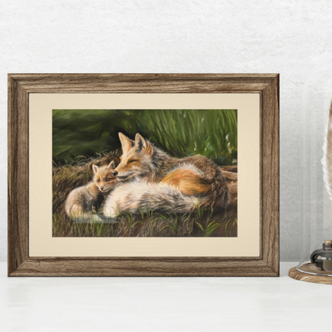 Red Foxes Fine Art Giclee Print