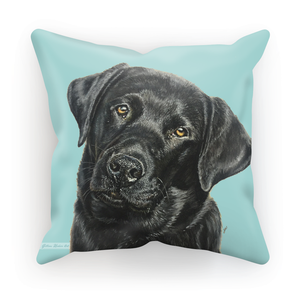 Black Labrador Cushion