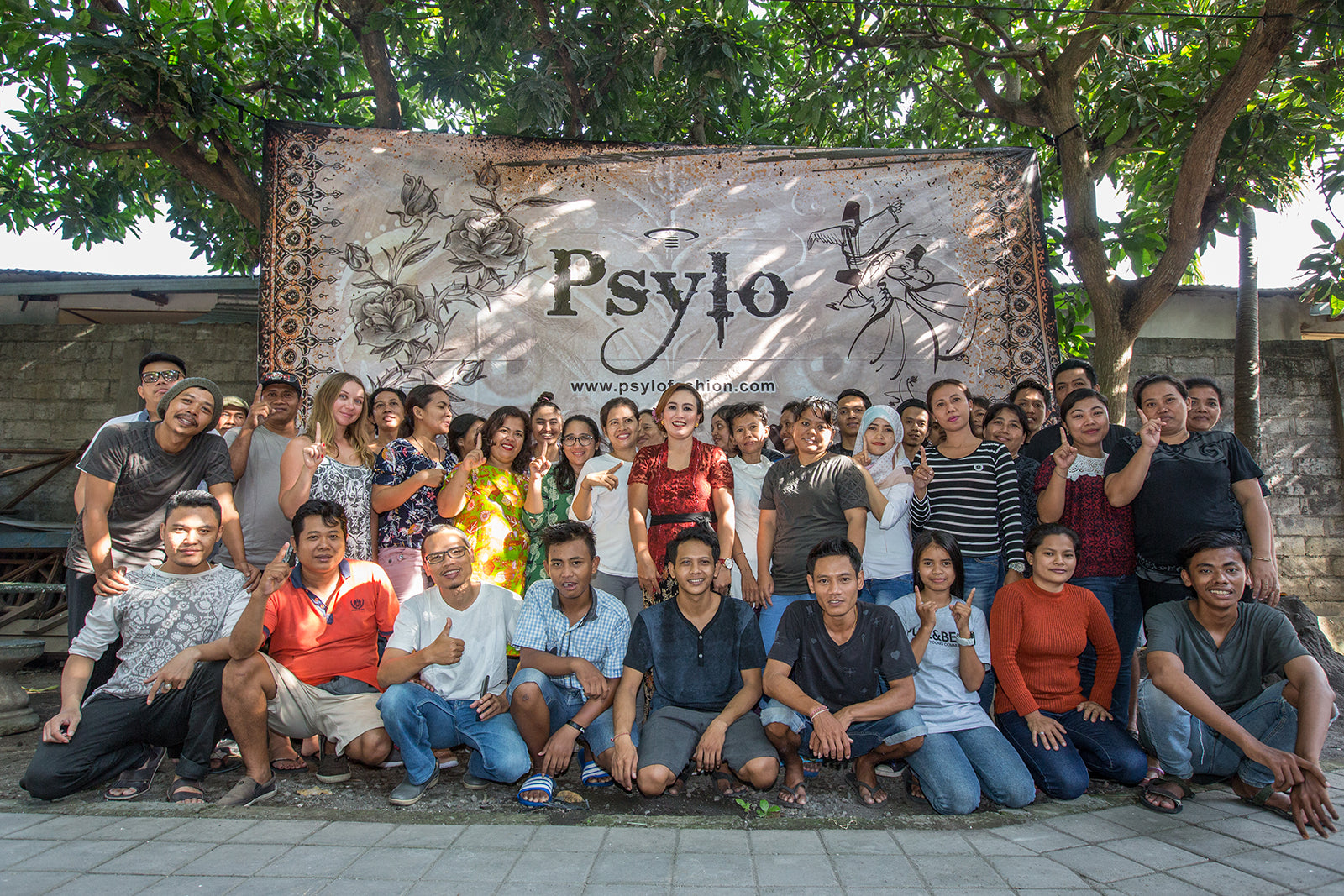 Psylo fashion Bali team the people who make ethical streetwear at Psylo