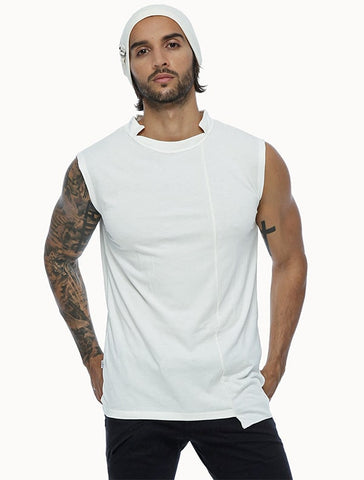 Psylo Fashion ethical alternative streetwear Blended sleeveless tee