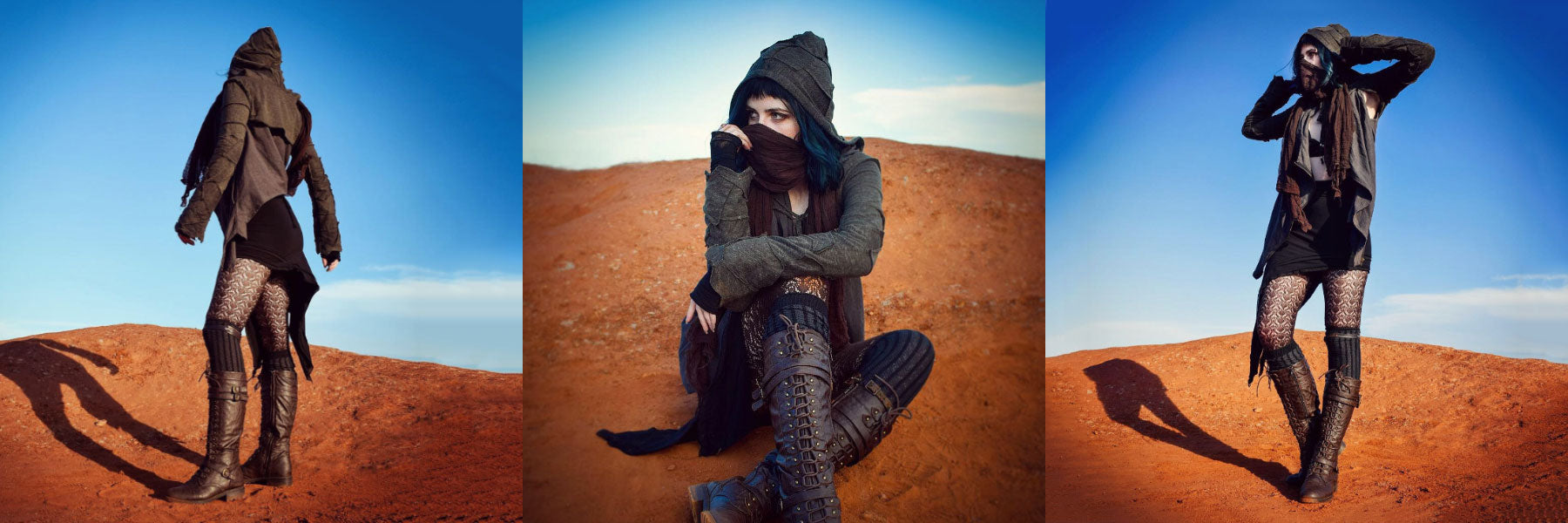 @catinawitchhat for Psylo Fashion the 'Scavenger' post-apocalyptic look