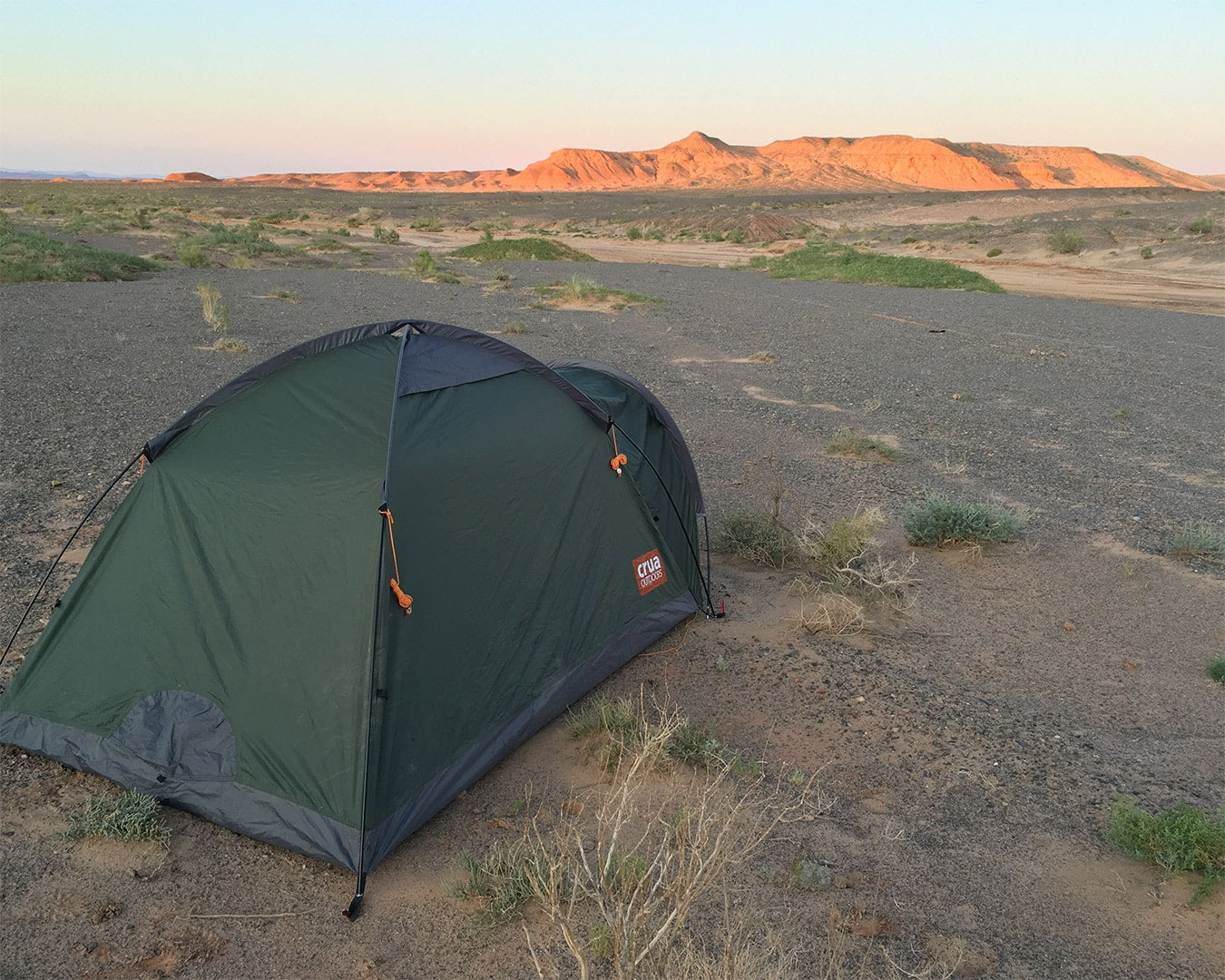 Max's tent during his expedition crossing the Gobi desert