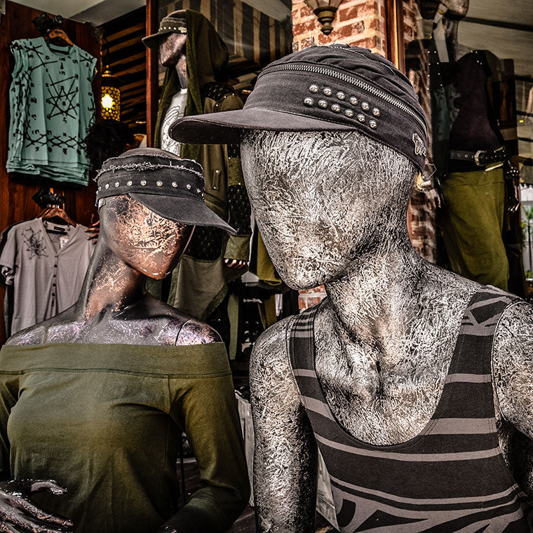 Playa Del Carmen Store Mannequins Sitting Outside