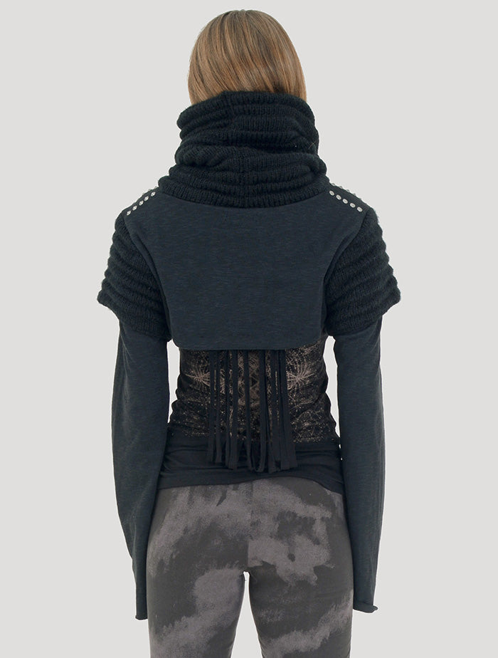 crop tops Psylo Fashion Armadillo Crop Sweater Storm Leggings