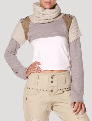 crop tops Psylo Fashion Armadillo Crop Sweater