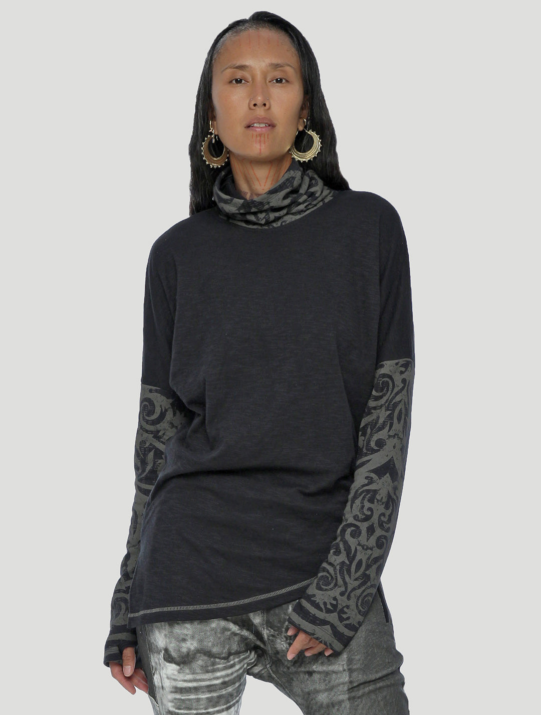 Psylo Fashion tribal streetwear Apera Turtleneck Sweater