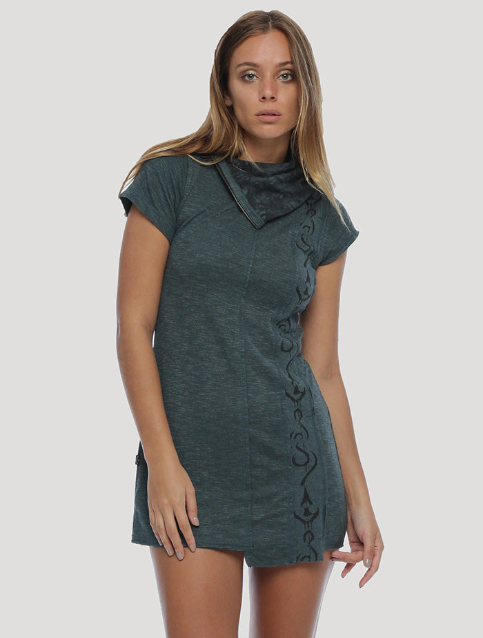 Beet Short Sleeves Mini Dress - Psylo Fashion