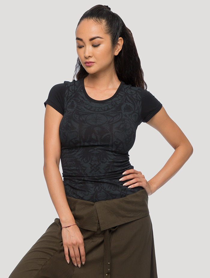 Celt Braided Short Sleeves Top - Psylo Fashion