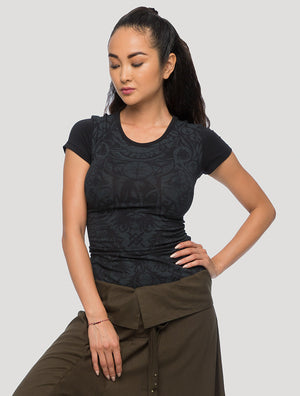 'Celt' Braided Short Sleeves Top