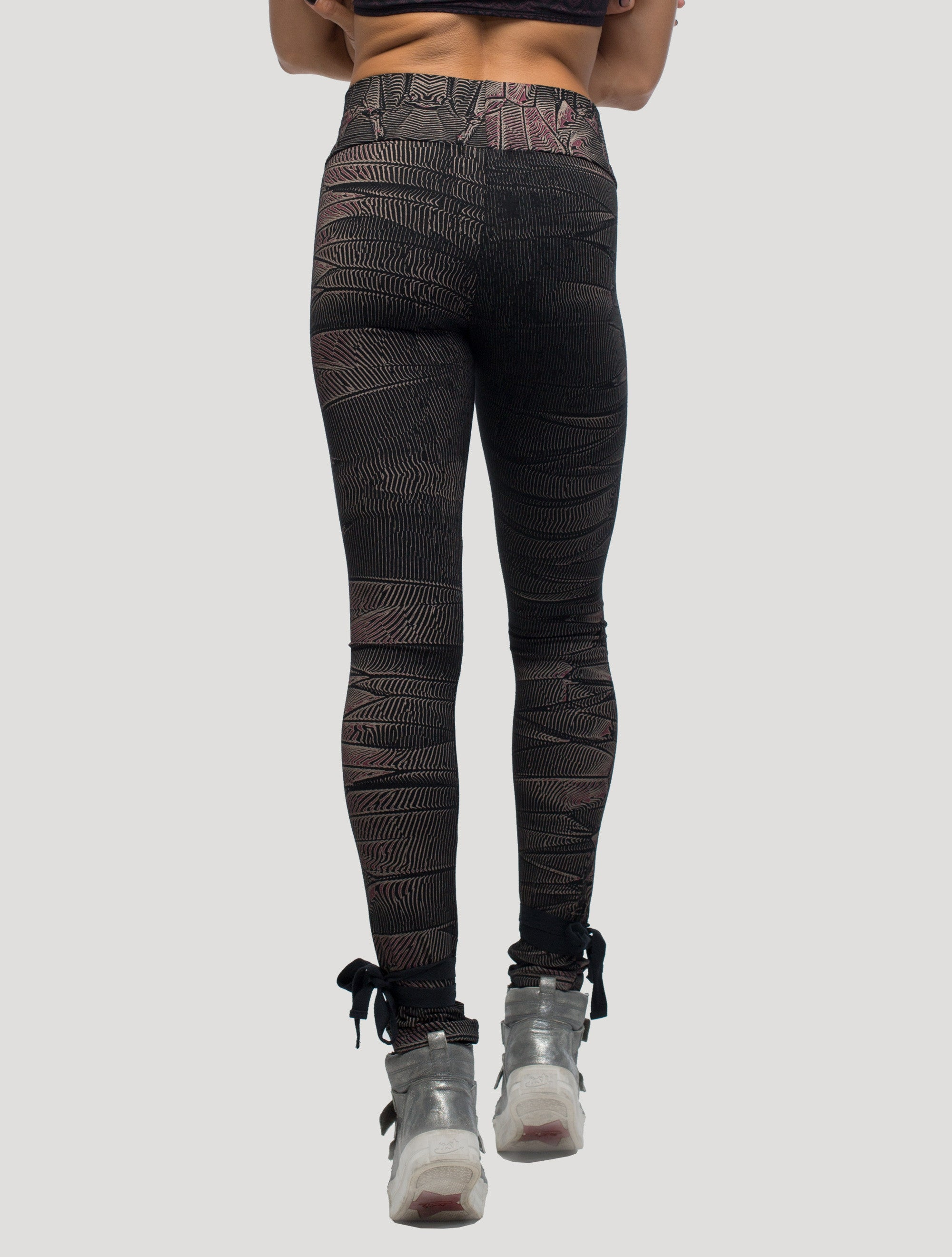 Crystal High Foldover Long Leggings - Psylo Fashion