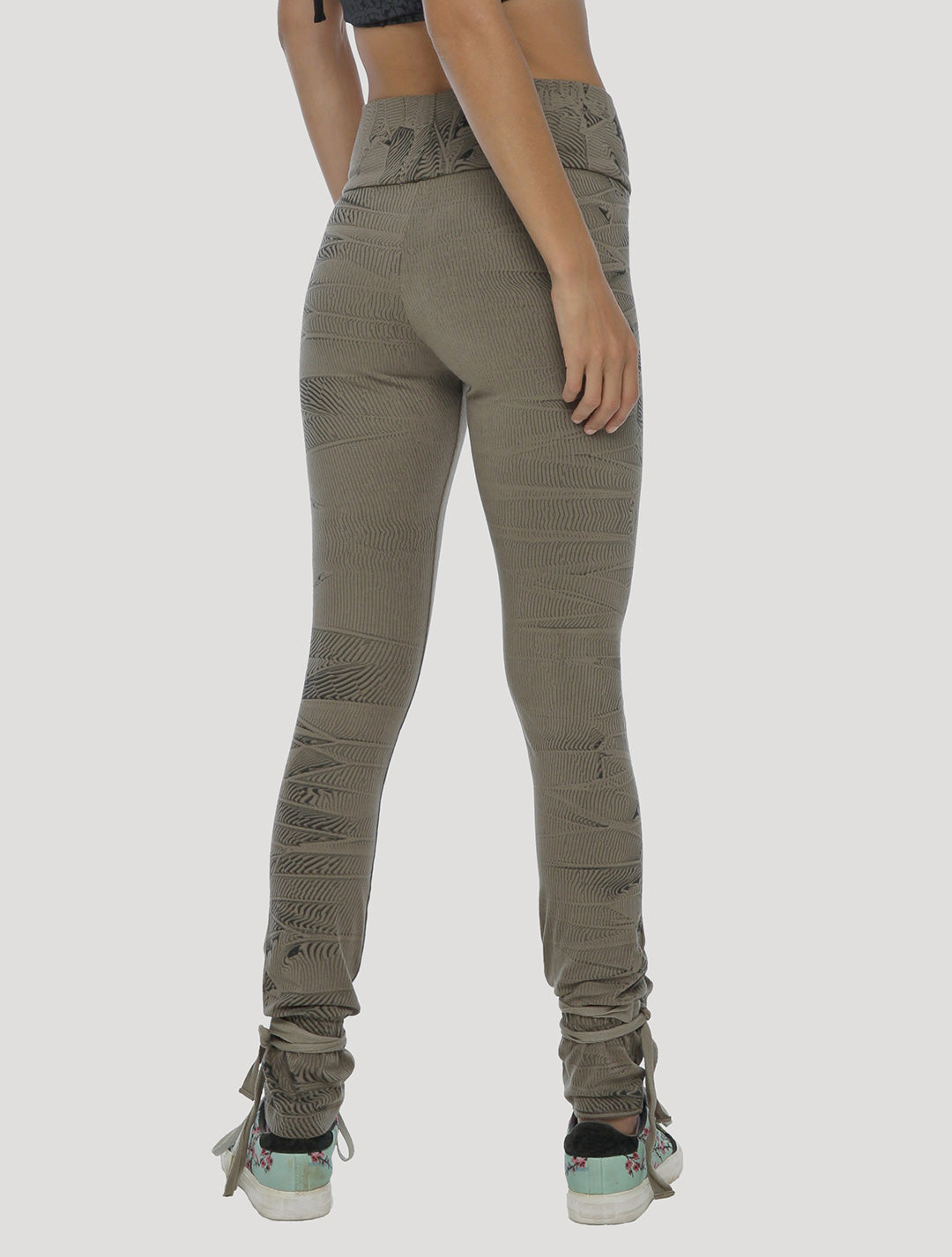 Crystal High Foldover Long Leggings - Psylo