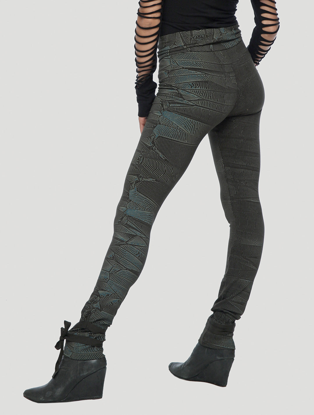 Crystal High Foldover Long Leggings