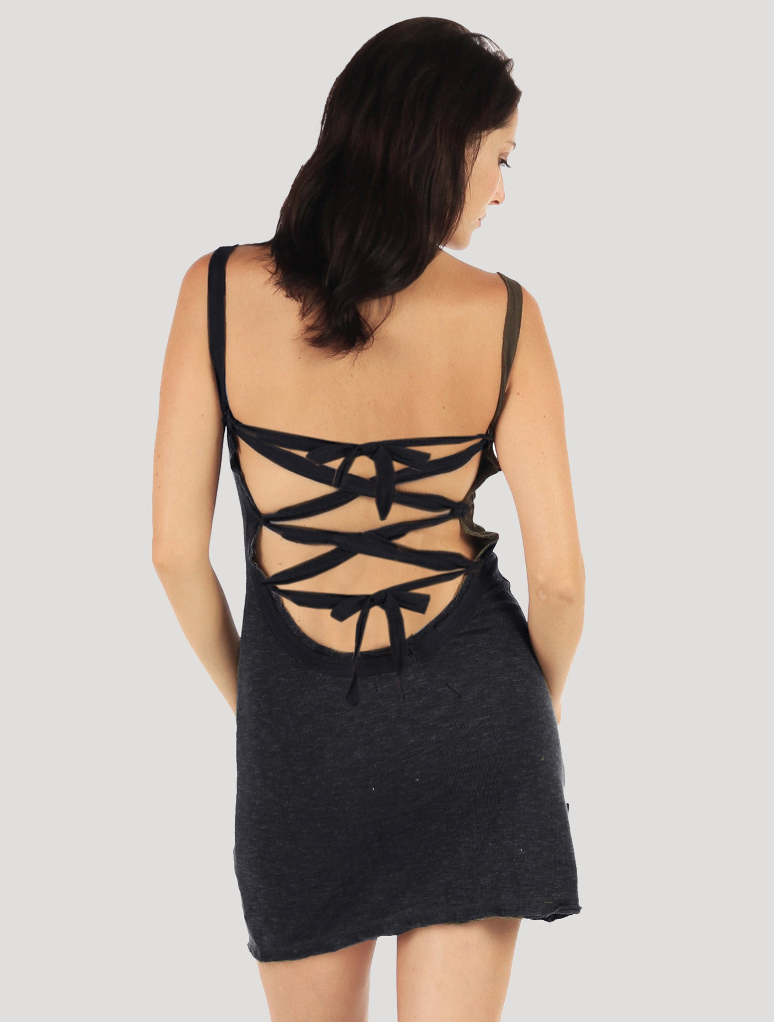 Coconut' Backless Mini Dress - Psylo