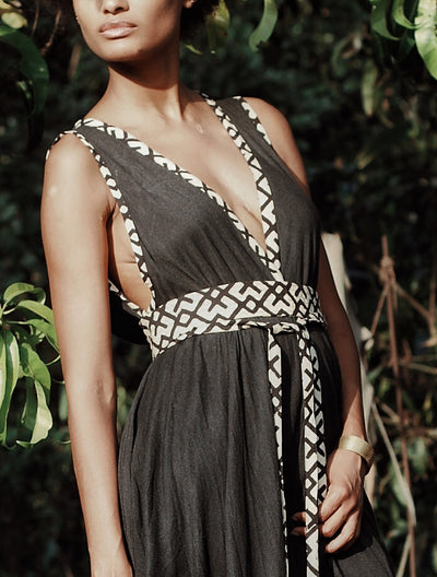 Criss Cross' Long Dress by Alekai