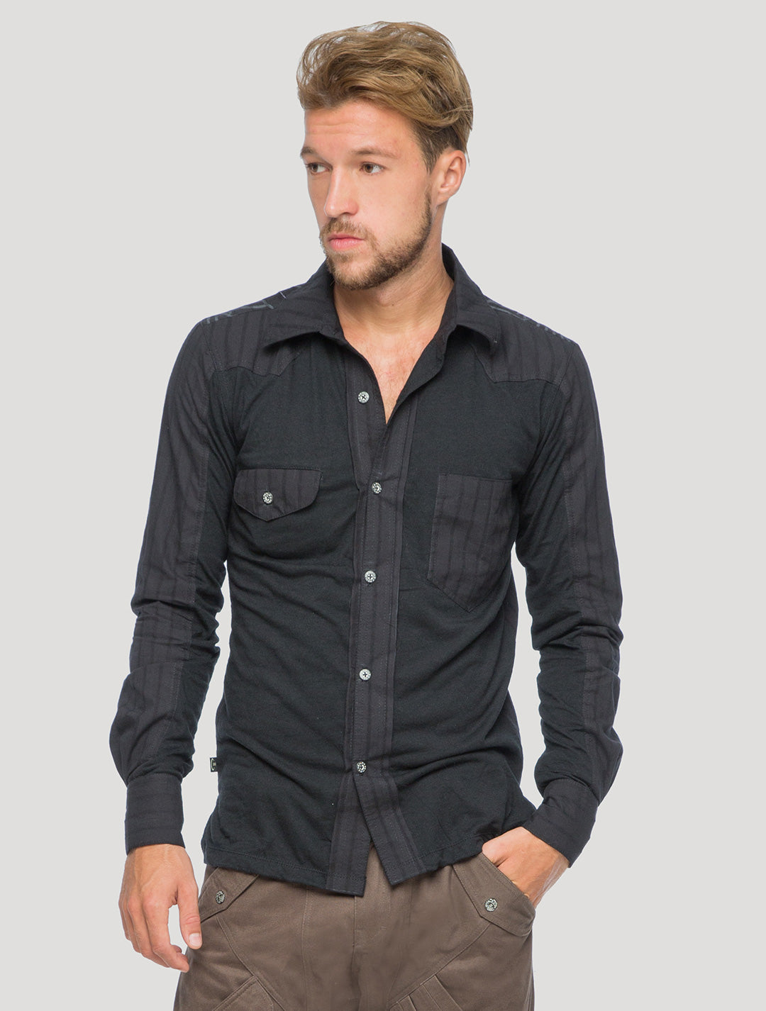 Elephant Buttoned Shirt - Psylo Fashion