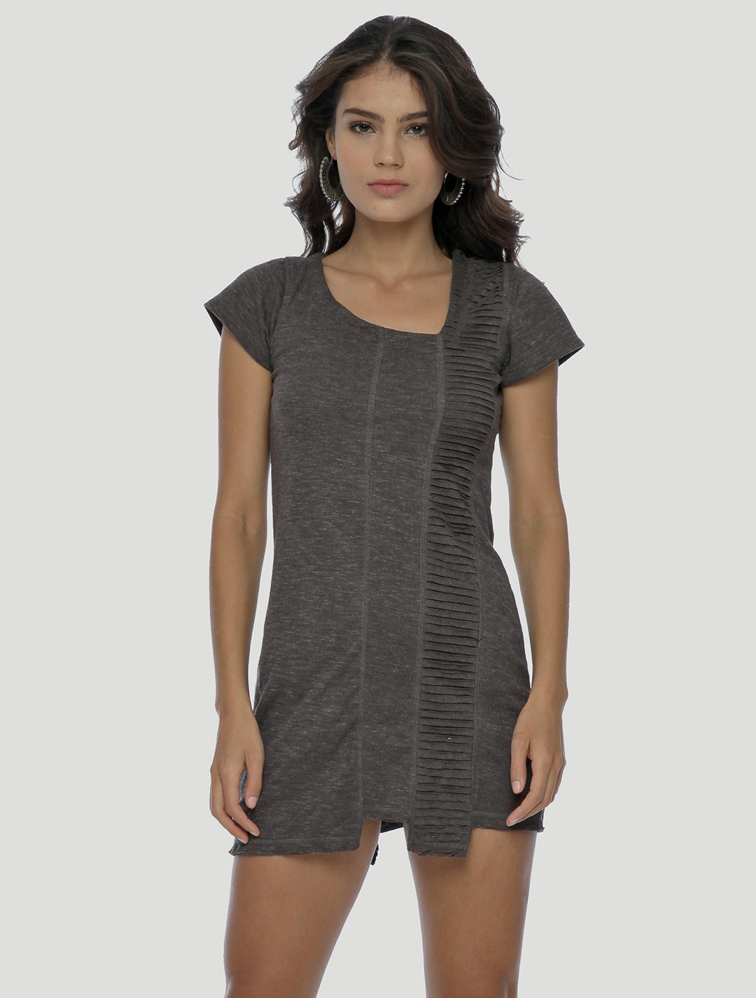 Freque Short Sleeves Tunic - Psylo Fashion