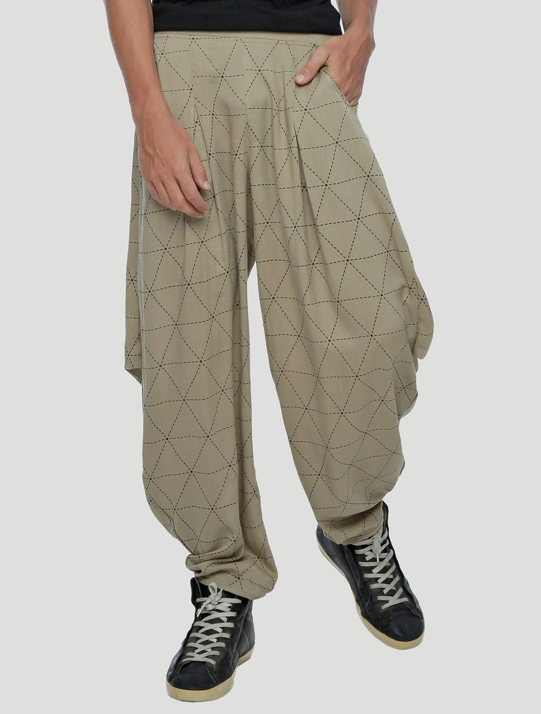 Psylo Fashion Geo Unisex Harem Pants