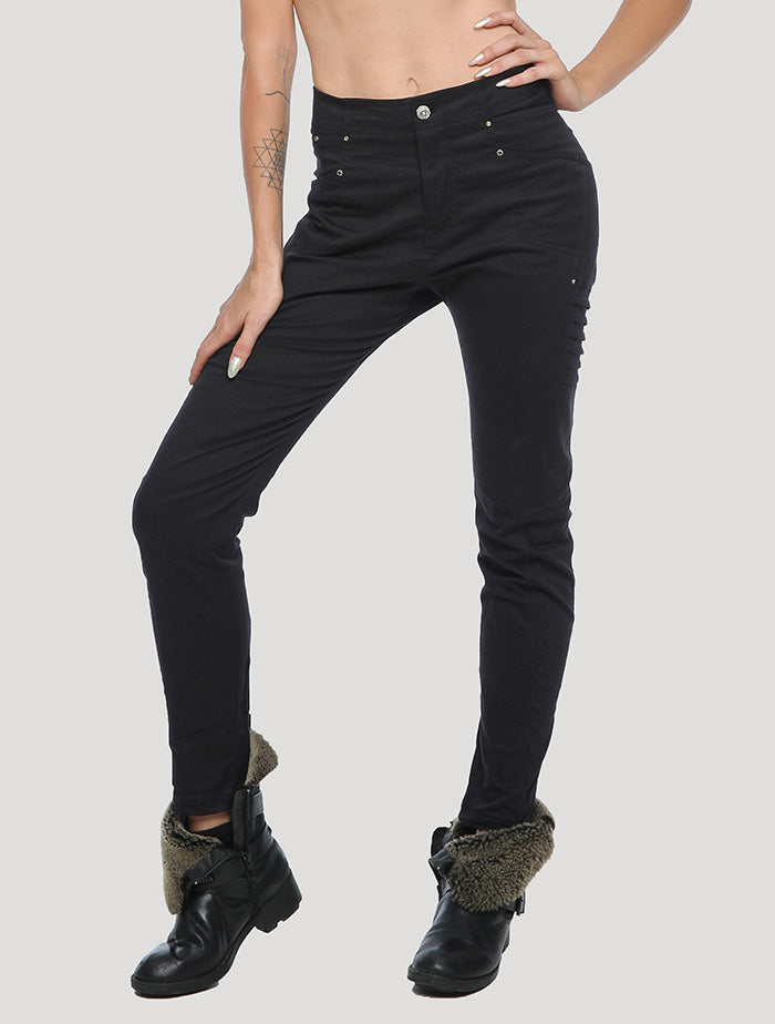 Black skinny Ghana Pants - Psylo Fashion