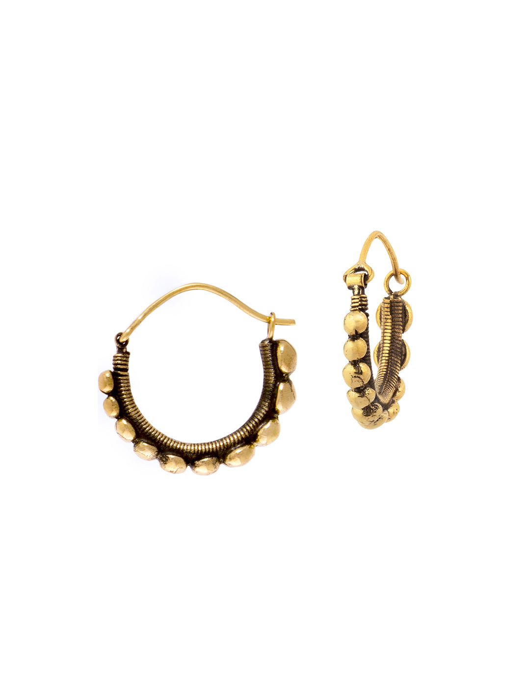 Hilltribe Tribal Hoops Earrings by Tribali - Psylo Fashion