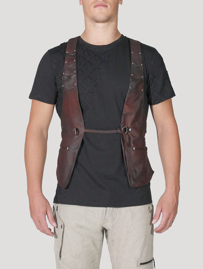 Jah RMX Leather Vest
