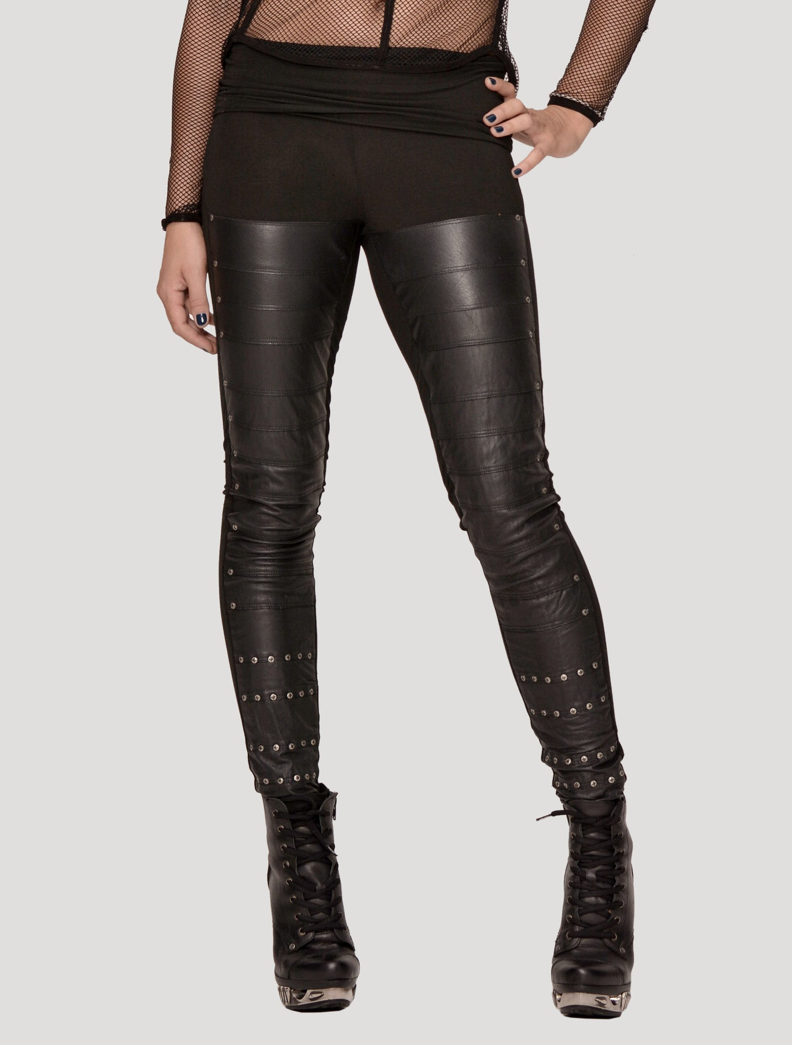 Leather Long Leggings - Psylo