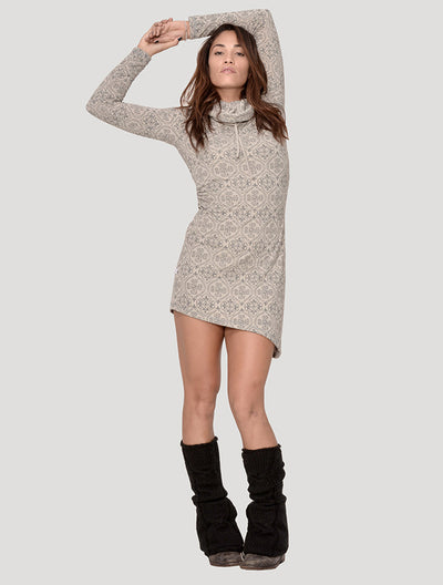 Livia Long Sleeves Turtleneck Dress
